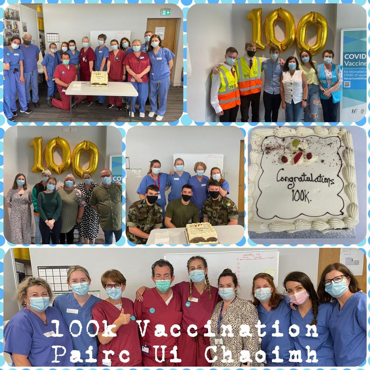 Congratulations to all the staff and volunteers at Páirc Uí Chaoimh for reaching the milestone of 100,000 #Covid19 vaccinations this week.   A great achievement in our national rollout. https://t.co/fMFP70kolO