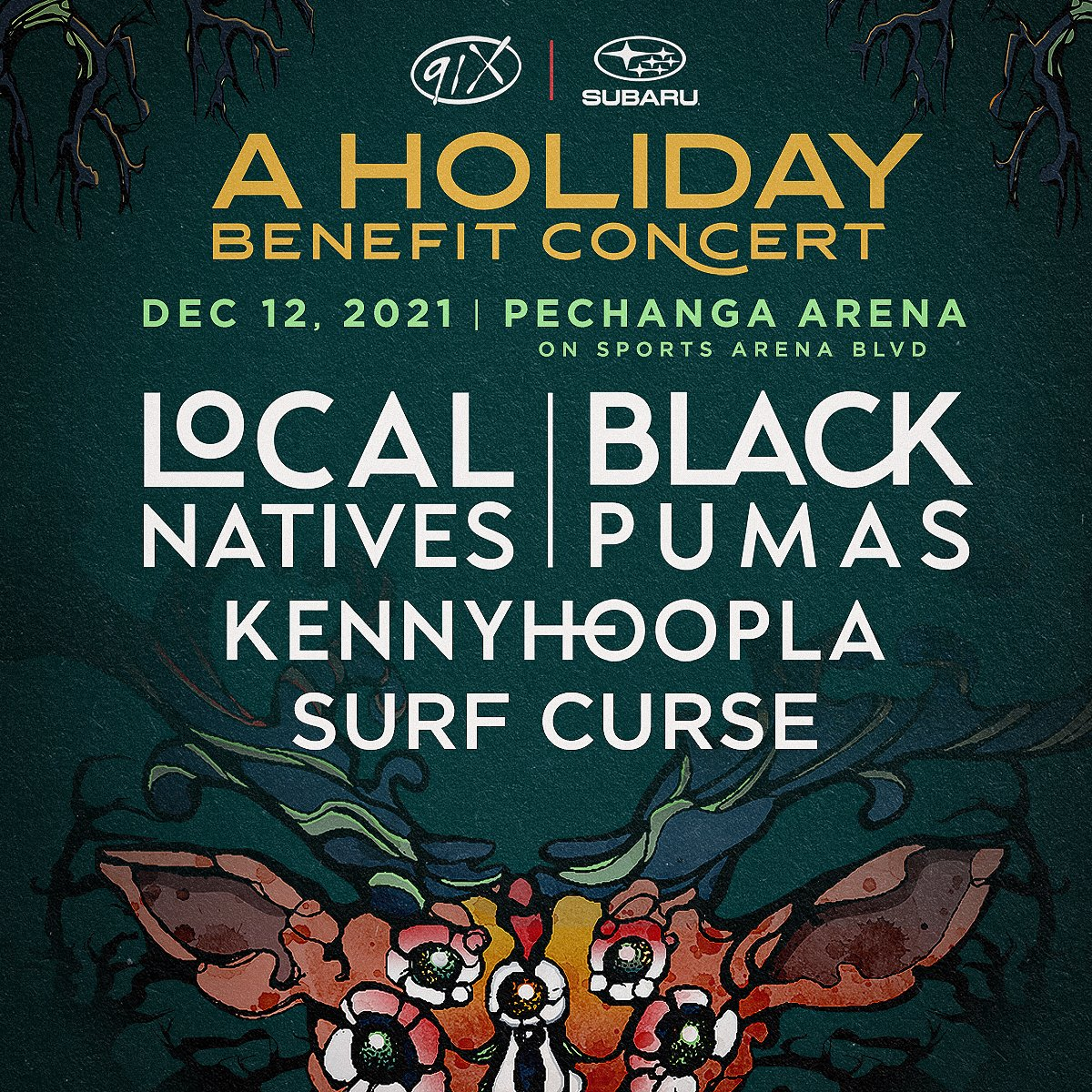 Excited to play the @91X Holiday Benefit Concert in San Diego on December 12th! Head here for more info: https://t.co/4r2M6qJusE 🎁 https://t.co/n3EdmATfka