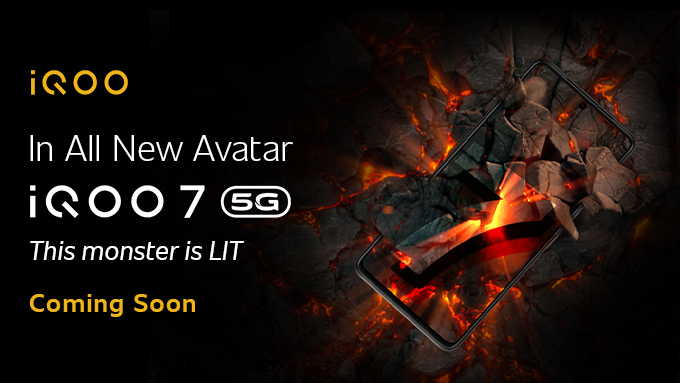 The Monster is awake and ready to lit up the whole town.  Stay tuned for the all new avatar of iQOO 7.  Coming Soon  #iQOO7 #ThisMonsterIsLIT #ComingSoon #iQOO https://t.co/dPYbkqu9Vb