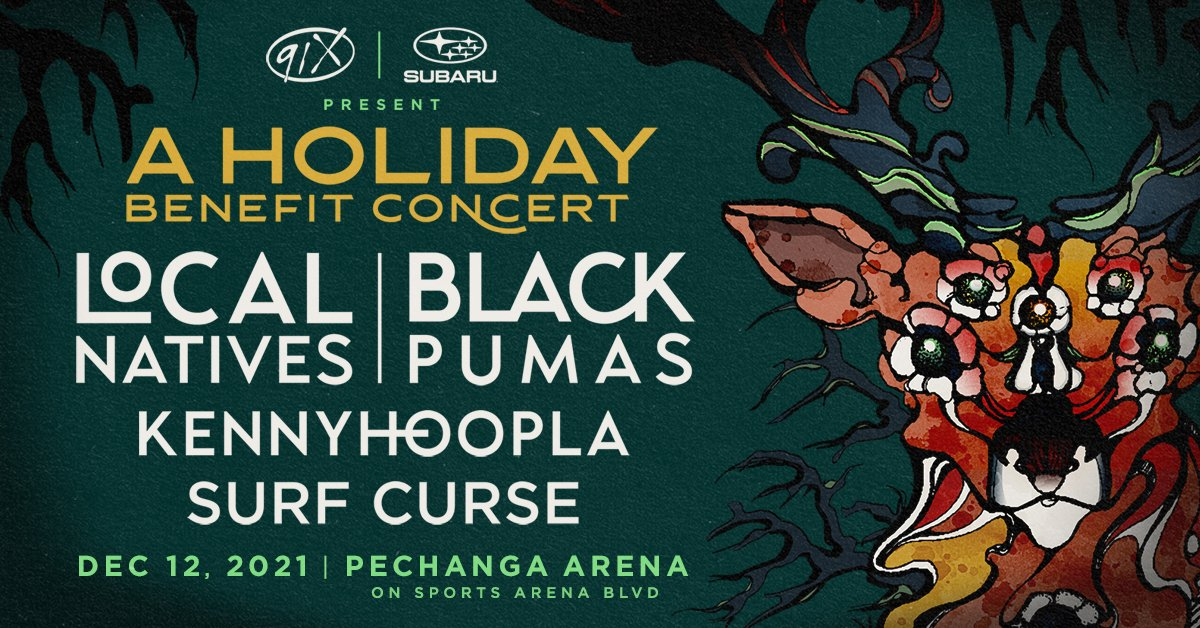 Are you ready, San Diego?  Mark your calendars 🗓 for @91X Presents @localnatives & @BlackPumasMusic + @KennyHoopla and #SurfCurse at Pechanga Arena San Diego on December 12!   Tickets on sale this Saturday, July 17 at 10:00 a.m on AXS. https://t.co/hlkfddYXYe