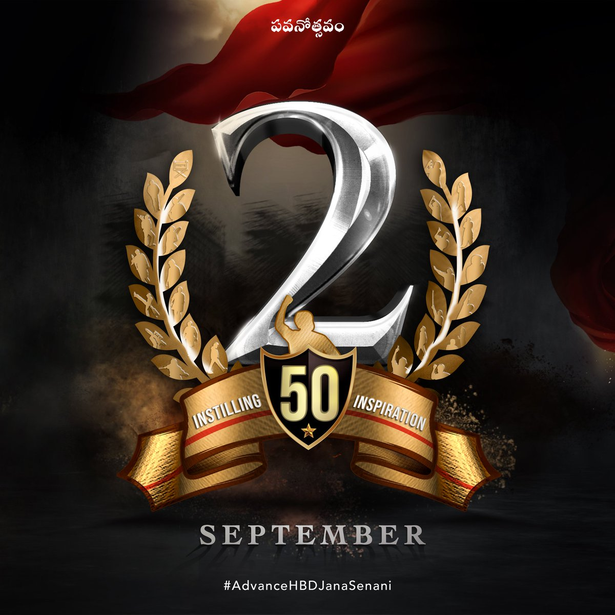"Raghu punnam on Twitter: ""#AdvanceHBDJanaSenani @50 days to go @PawanKalyan  birthday @CDP @God Kalyan💯❣️🤩 https://t.co/VTjzWzeEut"" / Twitter"