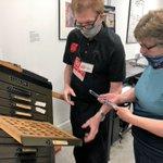 Image for the Tweet beginning: Museum of Printing Volunteer Barry