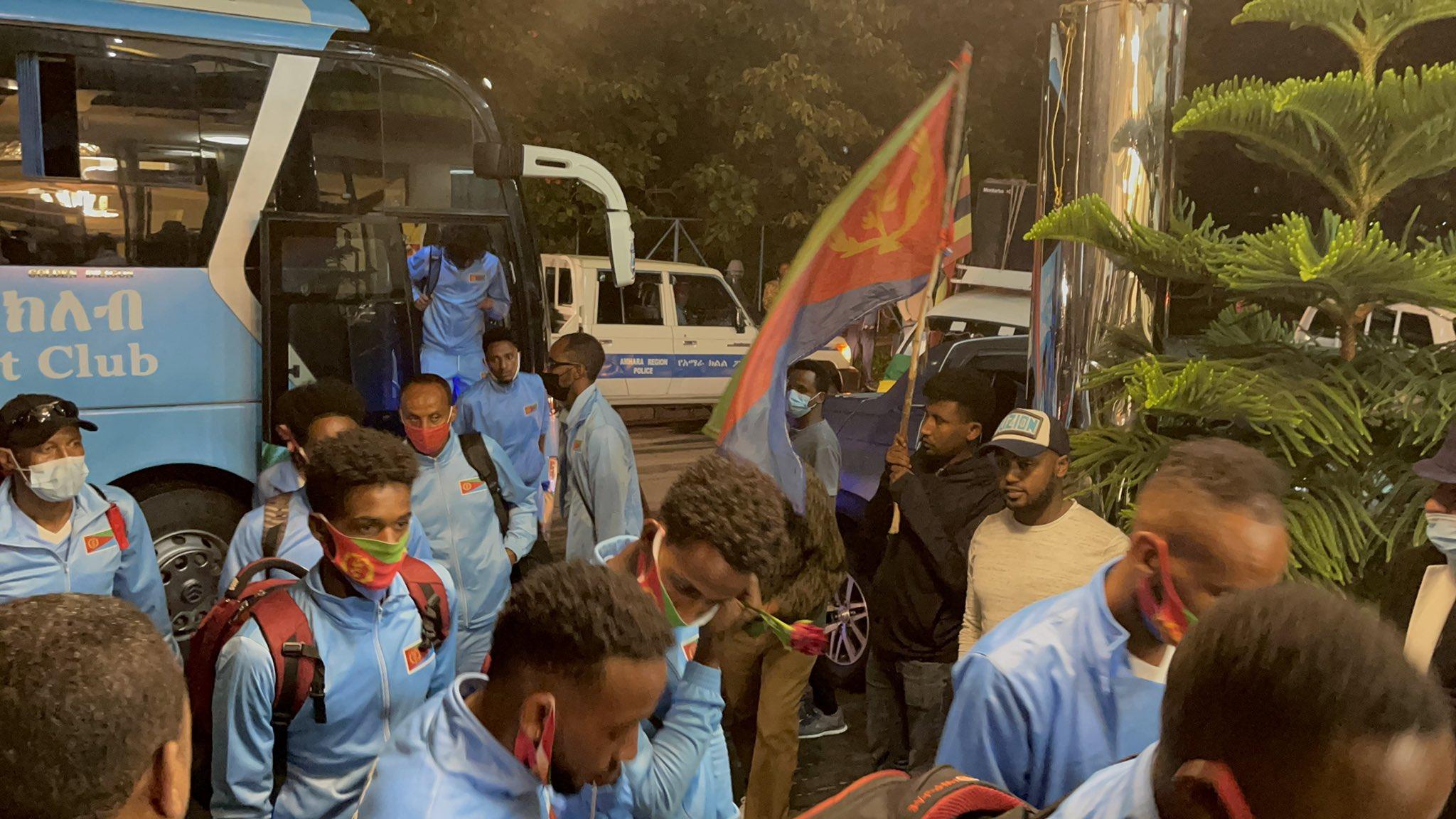 Photos of: Eritrean National <b>football</b> team arrived in BAHIR DAR city ...