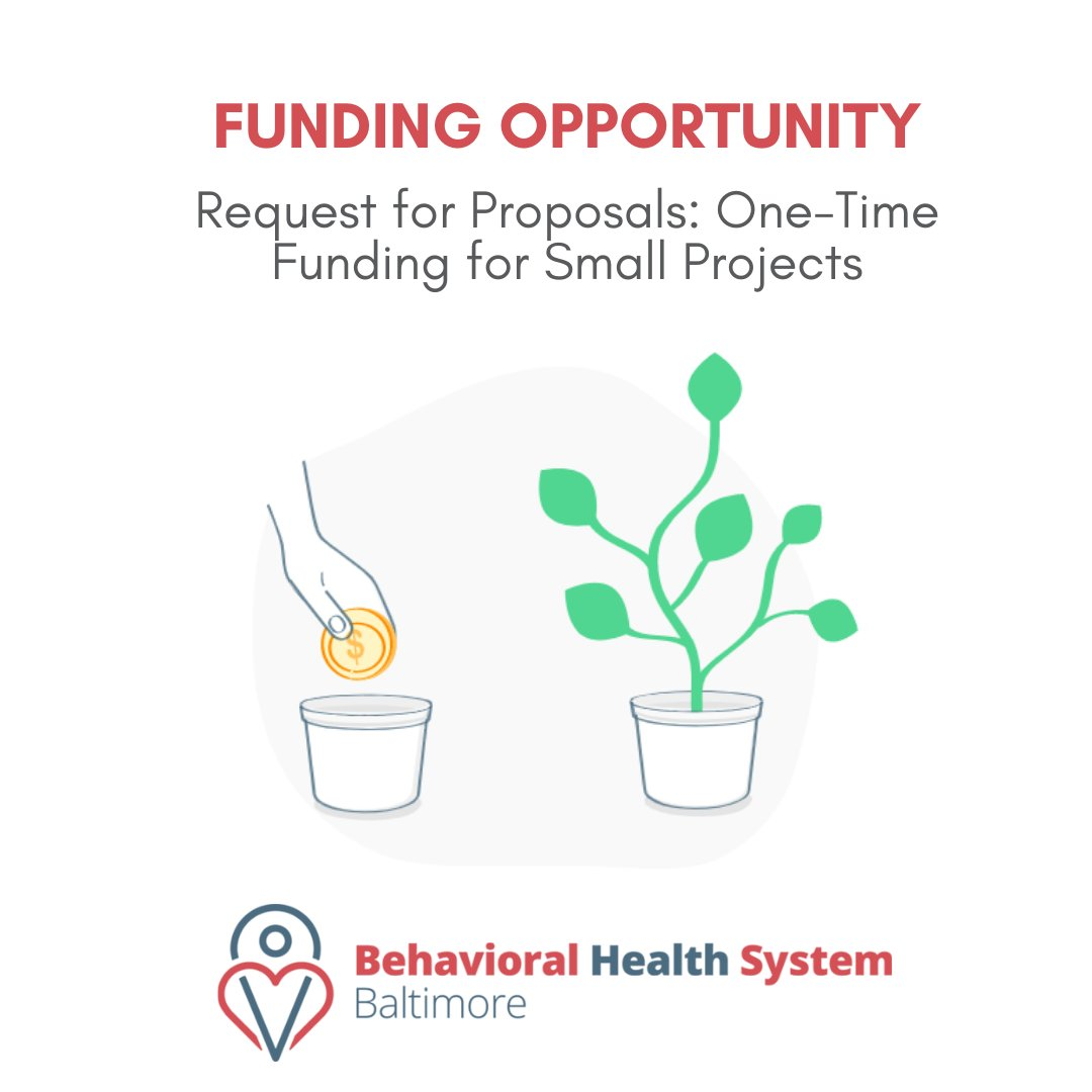 Please share. Small grant to enhance activities of community based programs to address Behavioral Health. BHSB should be flooded with proposals of innovation and ingenuity @MayorBMScott @promiseheights @JamesTorrenceJD @PhyliciaPorter_ @docbullock @ElectRyanDorsey Please share… https://t.co/phcJWHIVRa
