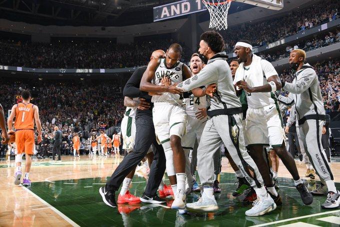 The Bucks celebrate Middleton huge scoring night