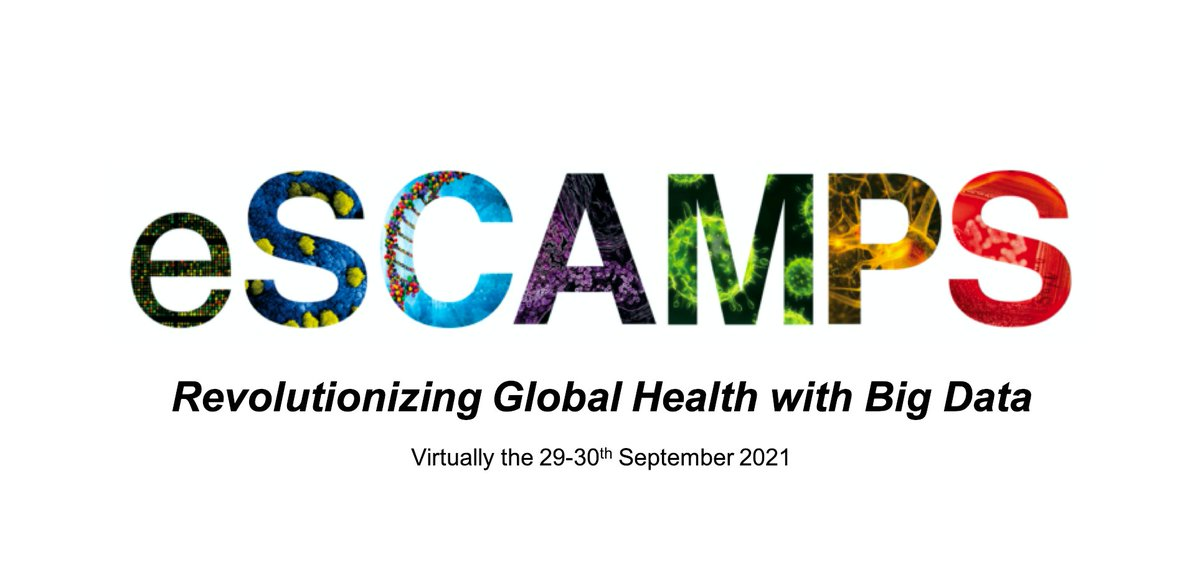 We have an exciting line-up of international speakers for eSCAMPS-2021 aiming to Revolutionise Global Health with Big Data! This year's event is virtual, open to all graduate students and free [as always]. I hope to see you there! https://t.co/kkUrkS62S9