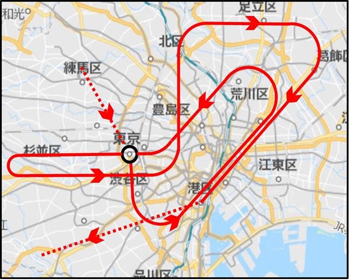 プルーインパルス 東京オリンピック 飛行ルート 開会式 何時 どこ