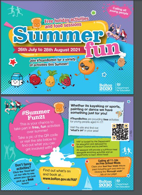 Summer fun activities for young people. https://t.co/04trKAYhIX