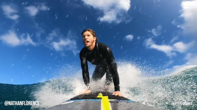 Surf's up on OnlyFans with Nathan Florence! 🏄♂️ Professional surfer Nathan has been riding waves his