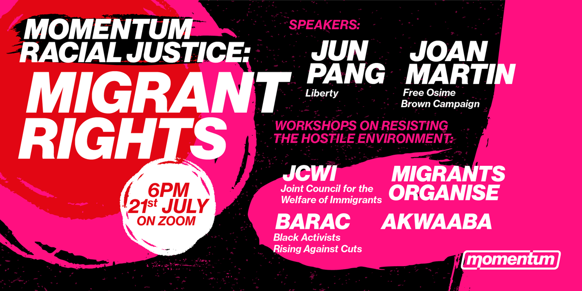 Next Wednesday 6pm! Sign up now!  We're proud to launch our new racial justice political education programme, putting anti-racism at the heart of our organising. Register: https://t.co/WgK7DrK22p  Want to get involved organising the Programme? Let us know: https://t.co/EZgAsa9oXh https://t.co/kY7Alc0PqG