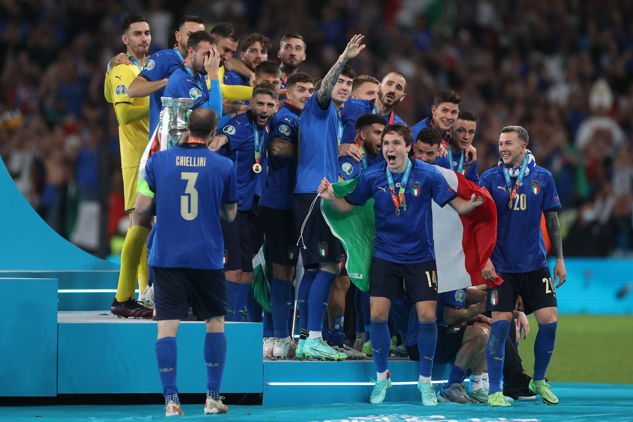 How many times has Italy won the Euros after their win in 2021?