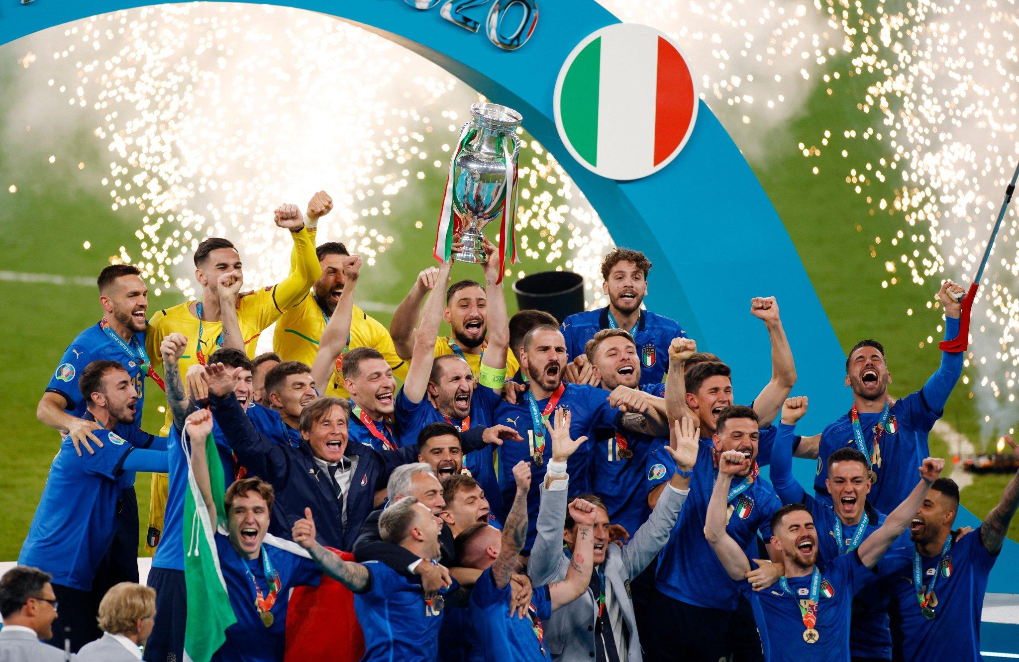 How many times has Italy won the Euros?
