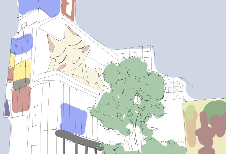 都会のでっかいネコ