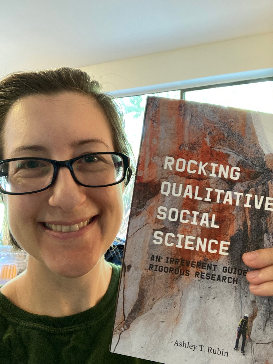 Congrats to @ashleytrubin on the publication of her second book,  Rocking Qualitative Social Science: An Irreverent Guide to Rigorous Research #RockingQualSocSci