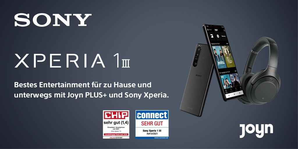 Xperia 1 III - Vorbestellungsangebot bis zum 31. August Jetzt WH-1000XM3 Kopfhörer von Sony sowie 3 Monate Joyn PLUS+ und 3 Monate TIDAL HIFI dazu sichern.  Hier mehr entdecken:https://t.co/CUwmmUXDCK Zur Aktion:https://t.co/ZF6rCmBH6U https://t.co/ujzqSMnr90
