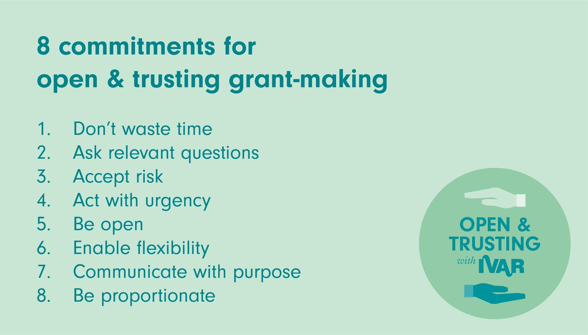 Do you have funders that you wish were more flexible? DM us your recommendations for funders we can contact about joining the open and trusting grantmaking movement with @IVAR_UK #FlexibleFunders