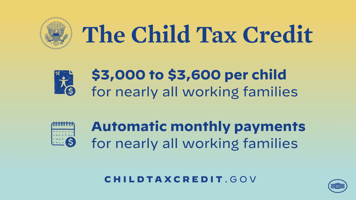 Starting today, working families are getting monthly payments of up to $300 per child thanks to @POTUS' American Rescue Plan. This is an historic step that will help families make ends meet and lift millions of children out of poverty. https://t.co/KSjooLvoq0 https://t.co/S2PO4cQuft