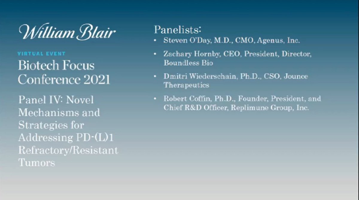 test Twitter Media - PD-1 resistance is a big challenge for I-O therapy, which the predictive potential of Agenus' VISION platform could help overcome.   Listen to @ODayMD discuss this & other aspects of PD-1 resistance at the William Blair Biotech Focus Conference: https://t.co/jHxx5X60DV https://t.co/7bW25dMZqG
