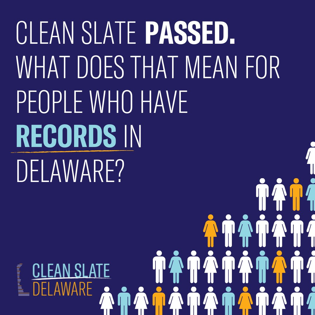Did you know that *over 20%* of Delawareans, all across the state, will benefit from #CleanSlate legislation once Governor Carney signs the bills into law?  Here's how. 🧵 (1/4) https://t.co/UoJjklAb84