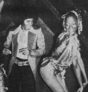 "♕ on Twitter: ""Michael Jackson & Amina Warsuma at Studio 54, 1977… """