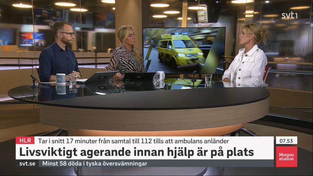I morse gästade vår generalsekreterare @sparreljung Morgonstudion i SVT för att belysa vikten av HLR samt prata om vårt pressmeddelande om responstider. Ses här (50 min in): https://t.co/r7EIvvgESp https://t.co/kk1vFRs690