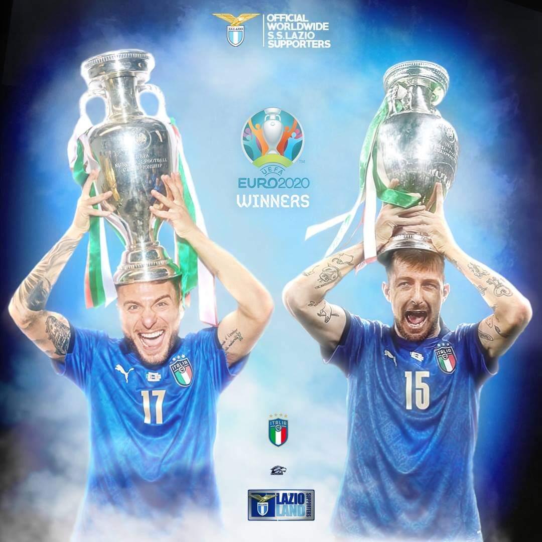 "LazioLand on Twitter: ""Still celebrating 🏆💙🦅 #Lazio #Euro2021 #Azzurri # Acerbi #KingCiro #Immobile @ciroimmobile @Acerbi_Fra  https://t.co/vLYBsvdgUU"" / Twitter"