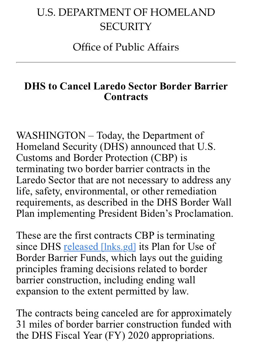 Biden Administration continues to compromise border security and endanger American communities by endearing themselves to radical left interest groups. That's why we continue to push forward in our lawsuits to protect Arizonans and to hold the feds accountable to the rule of law.