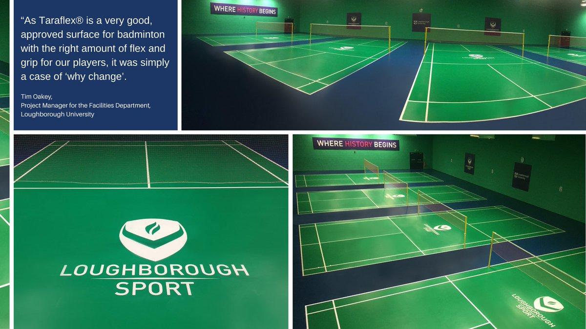 Almost 600m2 of Gerflors' World class Taraflex® vinyl sports flooring has been installed at Loughborough University.   Read the case study here - https://t.co/ZYSxez5IAQ  #LoughboroughUniversity #BadmintonFlooring https://t.co/VvtHAWNqqv