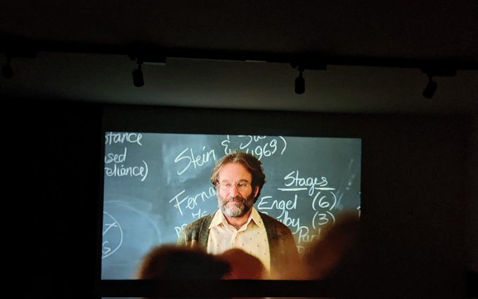 A Good Will Hunting kind of Friday night. Happy birthday, Robin Williams.