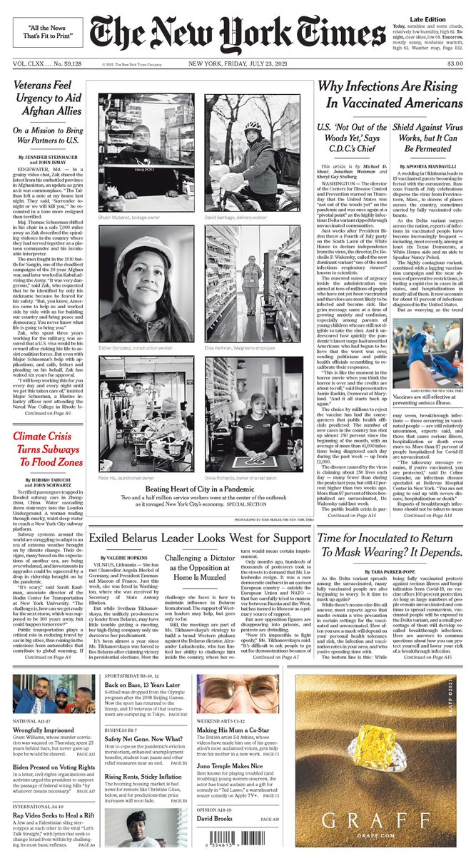 Excellent work by @HirokoTabuchi & @jswatz outlining the challenges infrastructure faces under climate change, which happens to be right on the front page of today's paper: https://t.co/T05fVH00CB https://t.co/Bc6gyEVVE6