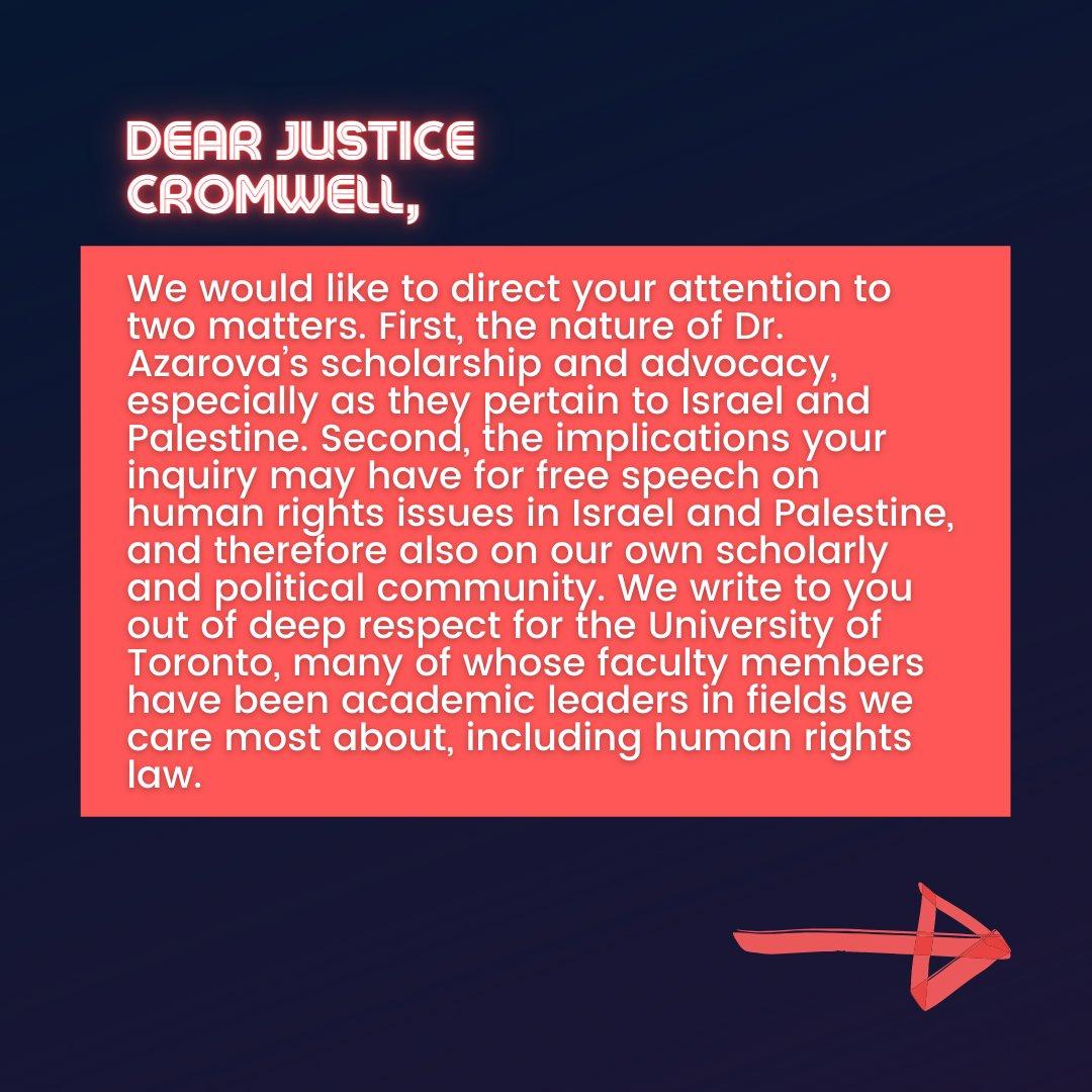 📜Israeli Scholars' Letter to Justice Cromwell📜  3/10  #CensureUofT #UofTScandal #HireValentinaNow https://t.co/kBKoGrWdvz