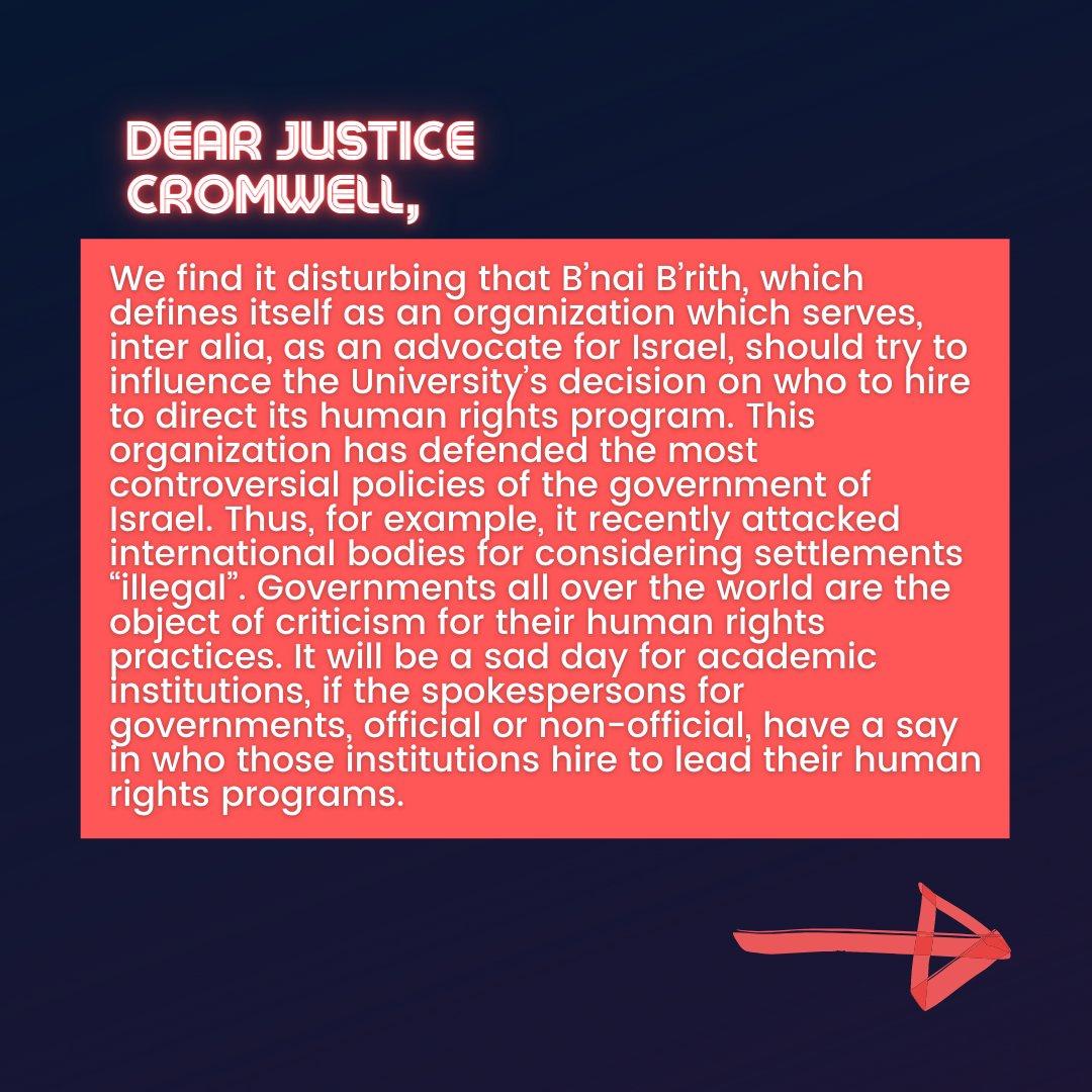 📜Israeli Scholars' Letter to Justice Cromwell📜  7/10  #CensureUofT #UofTScandal #HireValentinaNow https://t.co/JBkppsM5eu