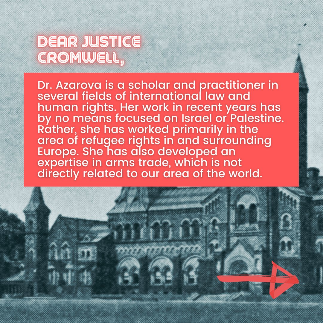 📜Israeli Scholars' Letter to Justice Cromwell📜  4/10  #CensureUofT #UofTScandal #HireValentinaNow https://t.co/IdCaoMWDNY