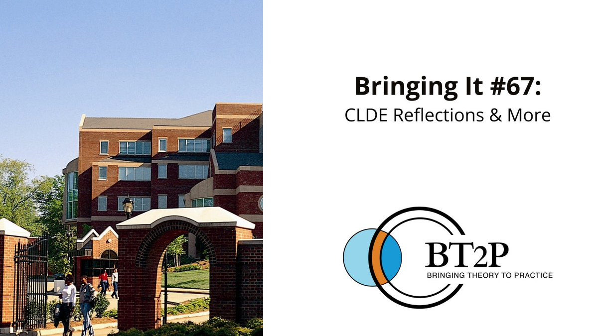A new #BringingIt letter is out! Give it a read to find out what topics staff members have been considering since last month's CLDE virtual conference: https://t.co/TB8k3ntvdl