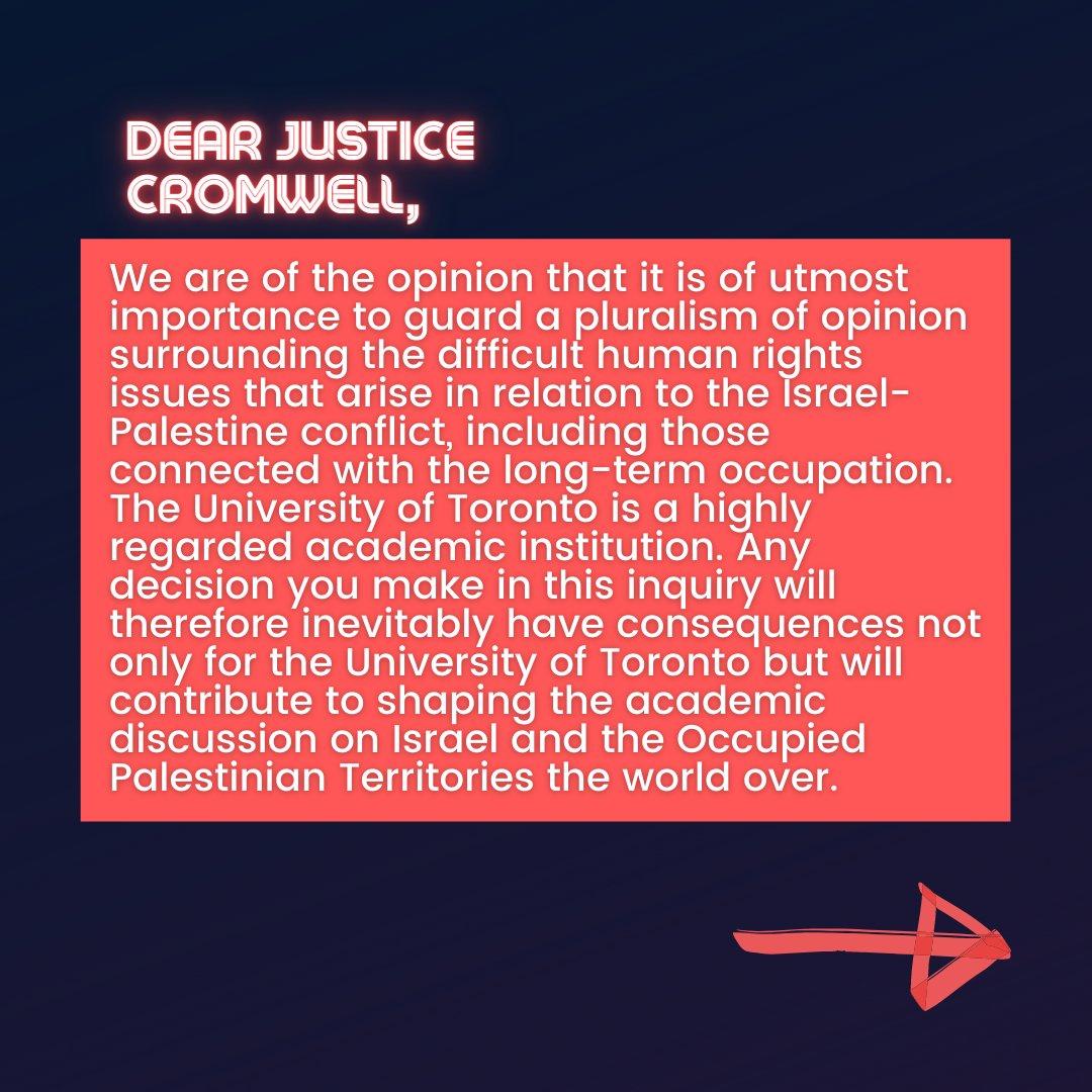 📜Israeli Scholars' Letter to Justice Cromwell📜  9/10  #CensureUofT #UofTScandal #HireValentinaNow https://t.co/z2XgWvhvgP