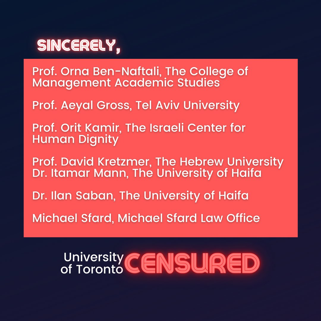 📜Israeli Scholars' Letter to Justice Cromwell📜  10/10  #CensureUofT #UofTScandal #HireValentinaNow https://t.co/XIhknOQoQy