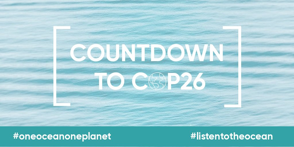 The Countdown to #COP26 is heating up! #ListenToTheOcean #ListenToTheScience and put #OceanClimateAction at the heart of the UN Climate Conference @COP26 @UNFCC Oct 31 - Nov 12 https://t.co/3lRYNtSQW6 https://t.co/HcBo2gUncc