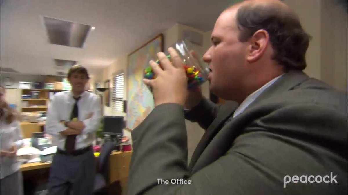 """Kevin Malone is the overwhelming favorite to win gold in the """"M&M Eating"""" event at the #TokyoOlympics. 🥇 https://t.co/VmS00k0qHJ"""