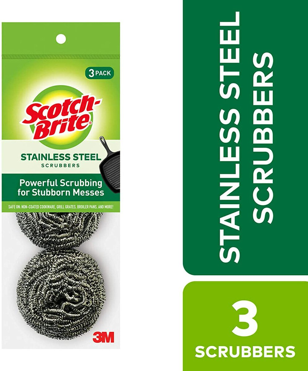 ad: ONLY $1.67  Scotch-Brite Stainless Steel Scrubbers (Pack of 3)