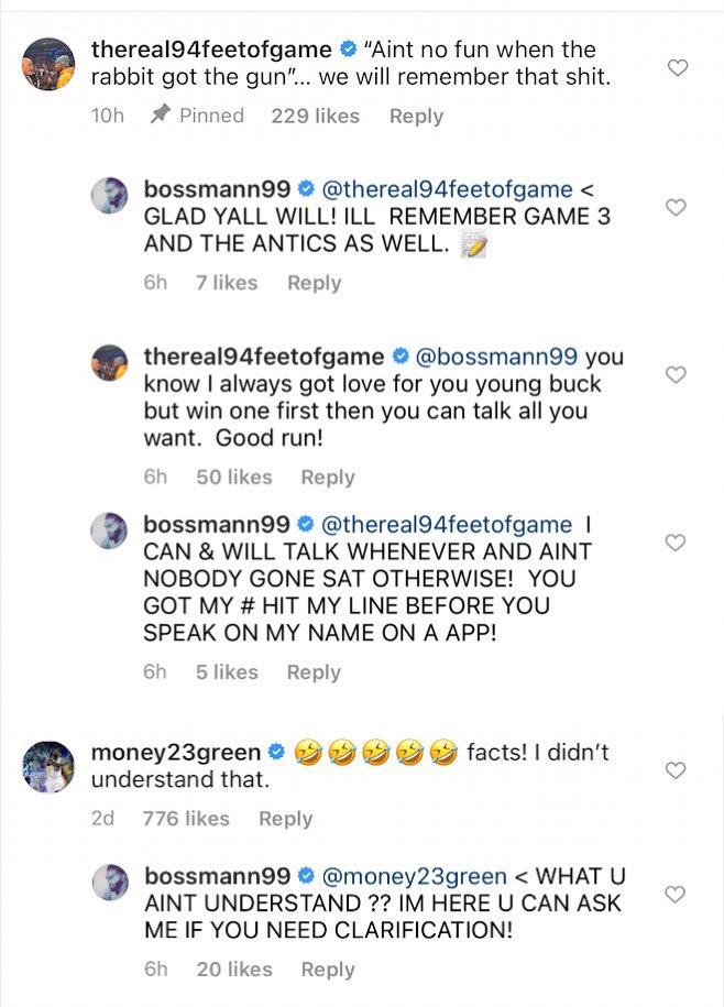 Bossman is not backing down today 👀 https://t.co/pu44JzMcve