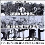 Image for the Tweet beginning: Is it ok to…  …enslave blacks