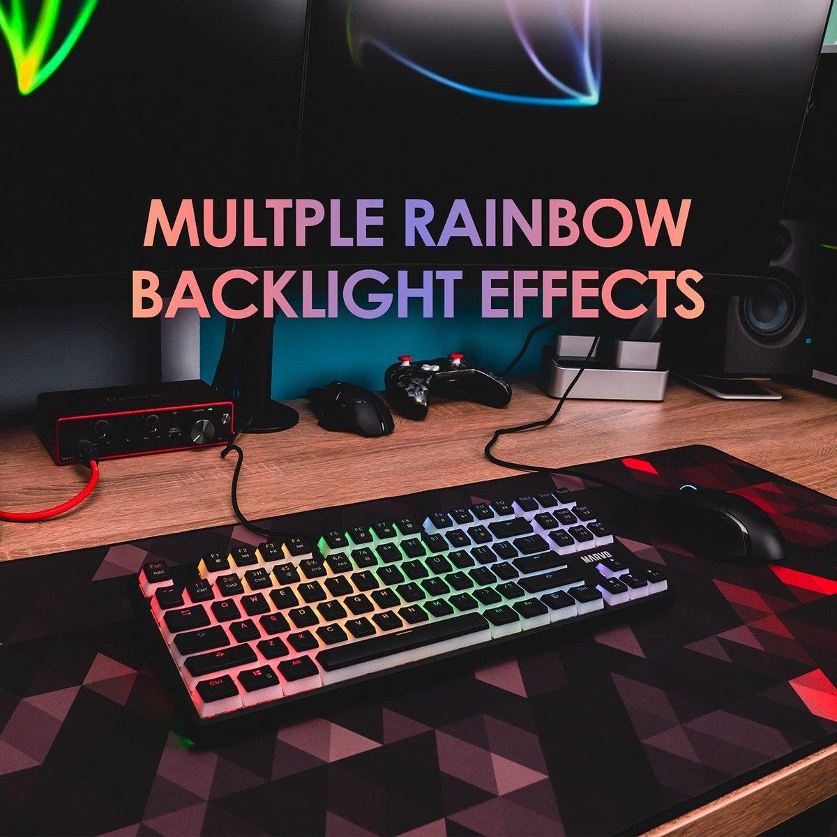 ad: ONLY $30.99   87 Key Mechanical Gaming RGB Keyboard