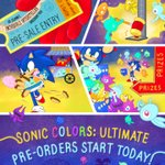Image for the Tweet beginning: Heads up, everyone! Sonic Colors: