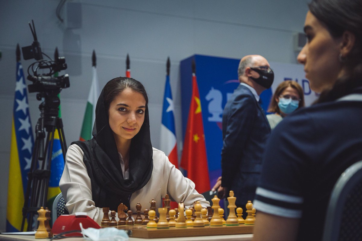 test Twitter Media - Today was the end of the line for Sarasadat Khademalsharieh, who lost the 2nd game of her Round 4 match against Tan Zhongyi and was eliminated from the Women's #FIDEWorldCup https://t.co/JZrtBpRxhh