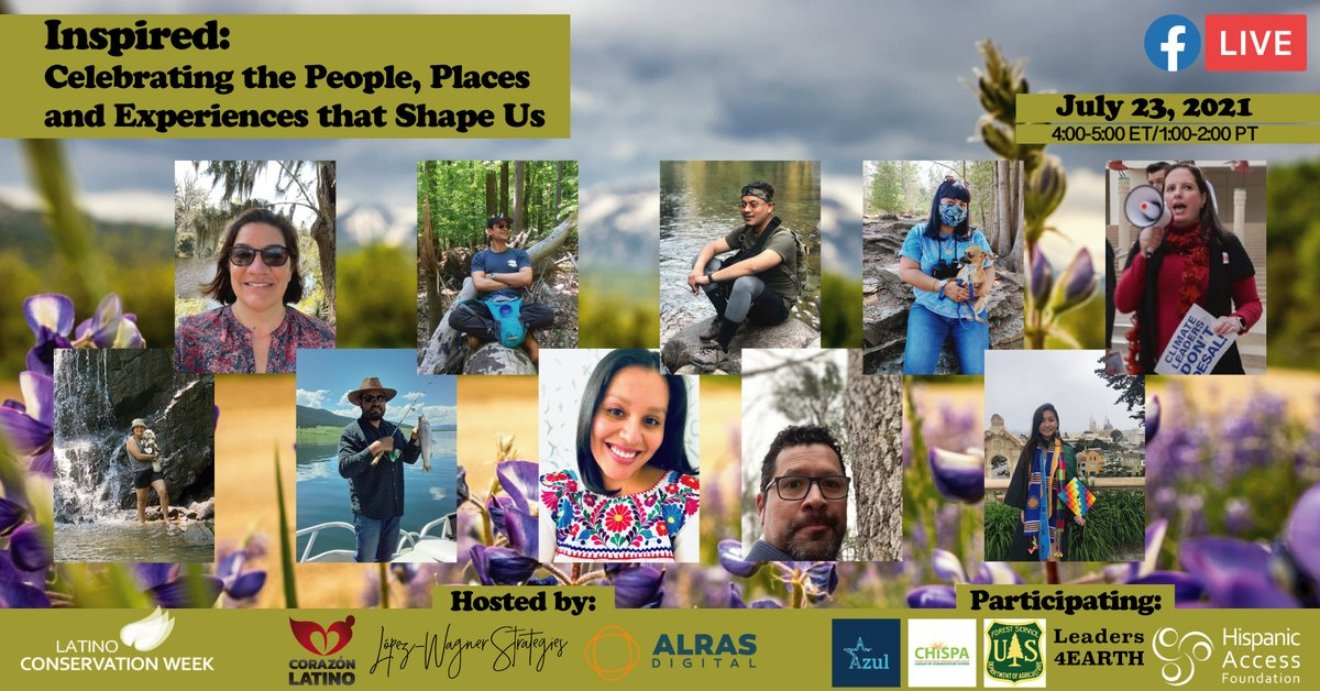 #LatinoConservationWeek is going strong! Join us for a cafecito feat. 10 environmental & climate justice advocates & activists. We'll celebrate our lands & waters, gush about successes, plus discuss the travels that inspire us to #protectMadreTierra y Mar. https://t.co/neQ0FPkHlL https://t.co/nMEgDFWSfm