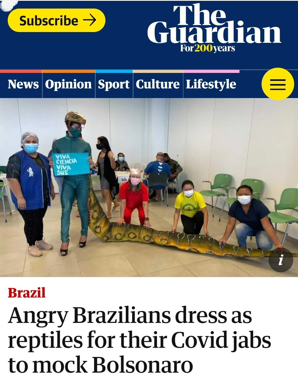 Minha mãe, a Sra. Jacaré, está no The Guardian.   Minha mãe... no The Guardian.  No The Guardian bicho. https://t.co/MOmvkMtbPV