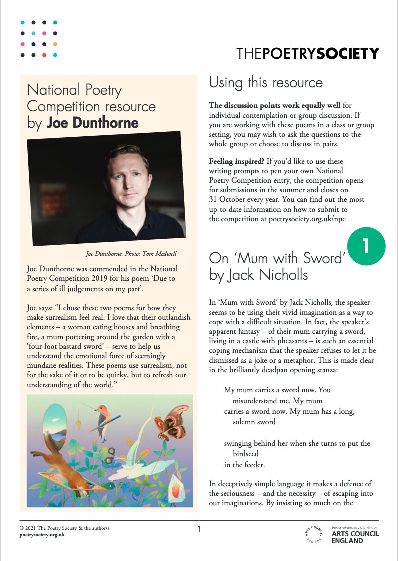 test Twitter Media - A new #NationalPoetryCompetition resource from @joedunthorne looks at poems that wield swords and eat houses by Jack Nicholls @fakenicholls and Natalie Shaw @redbaronski https://t.co/LfDR6O4UcK #GetWriting https://t.co/1Vc2oFSA1v