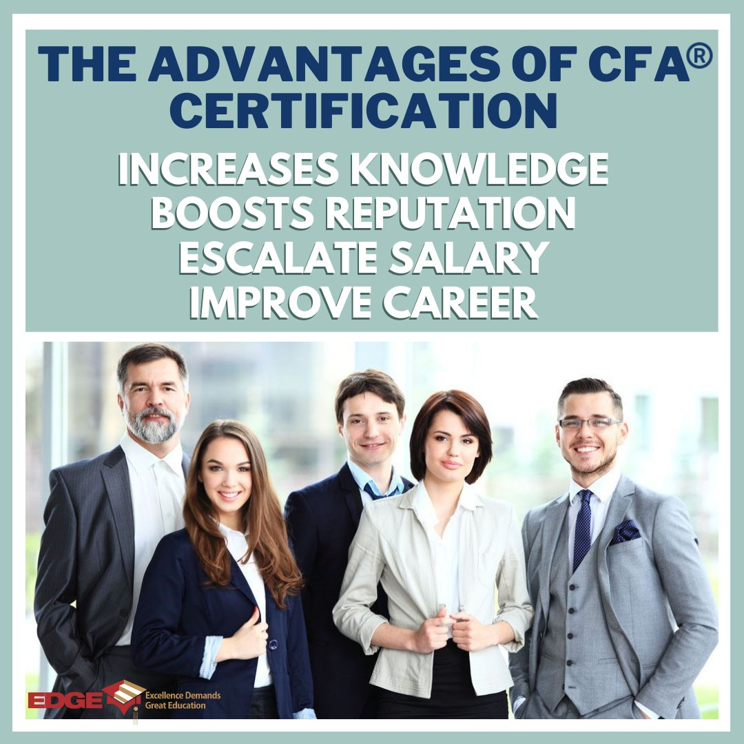 Accomplish your CFA Certification and be at the top of your career. New batch starting form August 09th. Enroll Now to avail early bird discount. For more details ☎️04-3688966   📲050-5454102 #CFA  #edgeeducation #Career  #SuccessPlan https://t.co/9dZ5Ms71YI