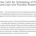 Image for the Tweet beginning: #CarterCenter calls for #Palestine to