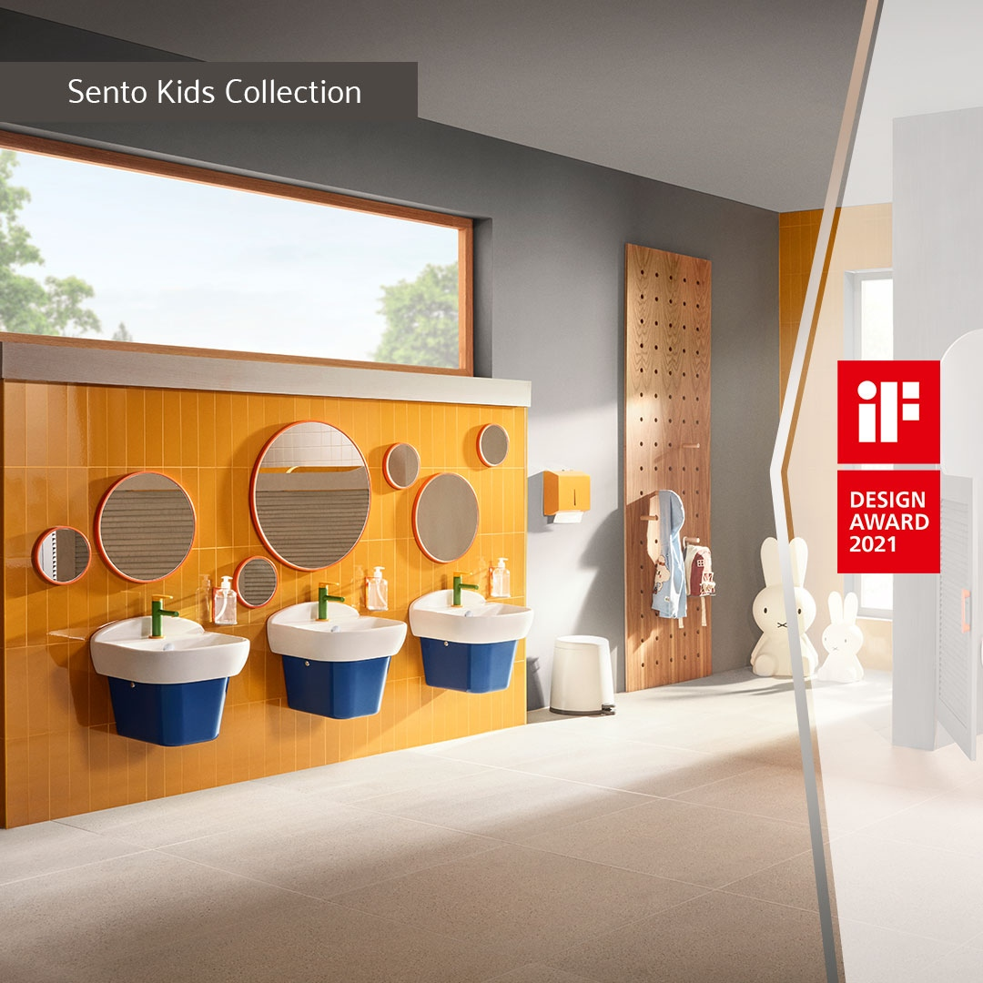 We've been awarded an iF Design award for our Sento Kids range, designed to provide children with a fun and safe bathroom environment where they can gain confidence in using the bathroom independently.